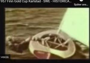 <b>Neue Finn-Hängetechnik entdeckt  -  Gold Cup 1957</b>