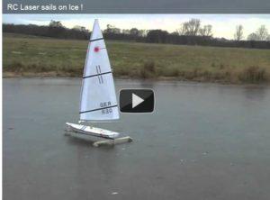 <b>Was machen Finnsegler im Winter ?  Vielleicht RC-Laser segeln ?</b>