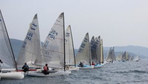 <b>Finn EM 2012 - Tag 2 - Four hours afloat, but no racing for Finns on day two in Scarlino</b>
