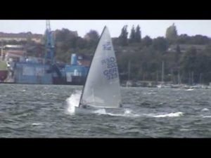 <b>Finn Sailing in the bay of Kiel</b>
