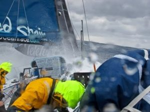 <b>Telefonica Hit by Big Waves - Volvo Ocean Race 2011-12</b>