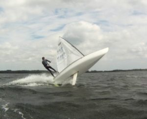<b>HIGH WIND CONTENDER SKIFF SAILING - GER 2355 DAVID SCHAFFT - Selent </b>