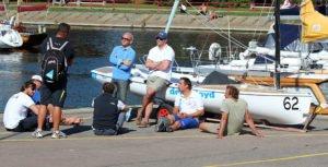 Finn Gold Cup – Long day ashore as light winds prevent racing at Finn Gold Cup in Tallinn