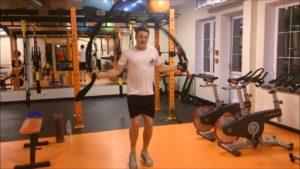 <b>Wintertraining - Piotr Kula trainiert mit Battle-Ropes</b>