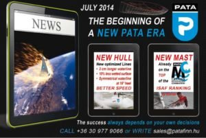 <b>PATA  - New Hull  -  longer waterline - less wetted surface - better speed</b>