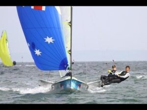 <b>Sailing World Cup 2013 - 49er And 49erFX Fleets Enjoy Opening Race Day</b>