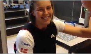 <b>49er Seglerin Marie Thusgaard Olsen - Silbermedaillengewinnerin - beim Training</b>
