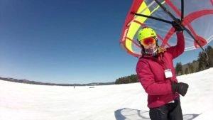 <b>Neue Sportdisziplin - Schnee-Segeln</b>