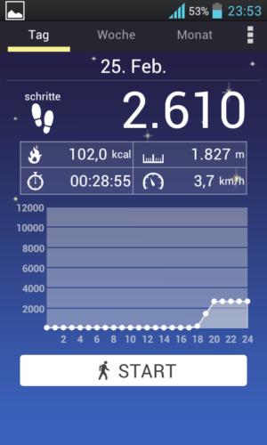 Android-App - Schrittzaehler