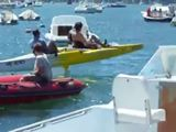 <b>Man-powered hydrofoil</b>