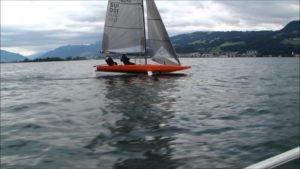 <b>Auch Monohulls können fliegen - Quant 23 auf dem Zurichsee</b>