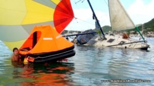 <b>Sailboat Sinks in Simpson Lagoon, St Maarten, SXM CARIBBEAN</b>
