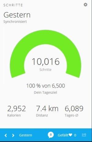 <b>Fitnesstraining: 10.000 Schritte täglich</b>