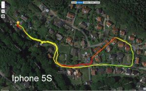 <b>GPS-Test:   IPhone 5S - Motorola Moto G3 - Garmin Vivoactive</b>