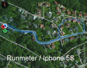 GPS-Test:  Runmeter/Iphone 5S  – Endomondo/Iphone5S –  Momentum Tracker/Moto G3 – Outdooractive/Moto G3
