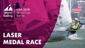 Full Laser Medal Race – Sailing's World Cup Series | Miami, USA 2018