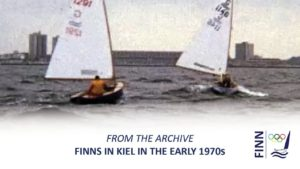 Finn sailing in Kiel in the e...