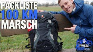 Rucksack für 100 km-Wanderung...