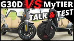 <b>MyTIER Erfahrungsbericht & Test - Vergleich mit Ninebot G30D & SXT</b>