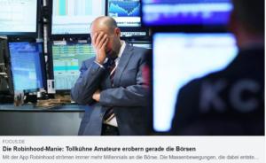 Börse - Die Robinhood-Manie
