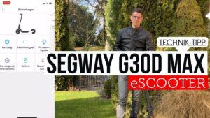E-Scooter - Ninebot G 30 D mi...
