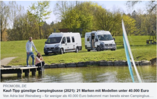 Campingbusse unter 40.000 EUR
