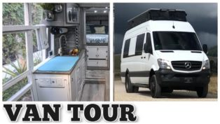 VAN TOUR - Tiny House with Am...