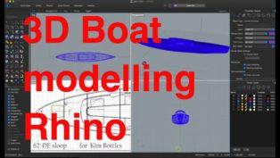 Rhino 3D boat modelling