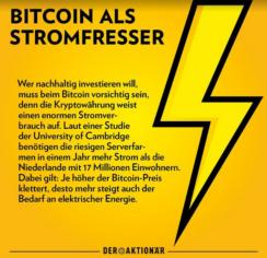 Bitcoin als Stromfresser