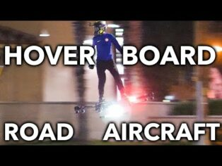 HOVERBOARD AIRCRAFT ON ROAD F...
